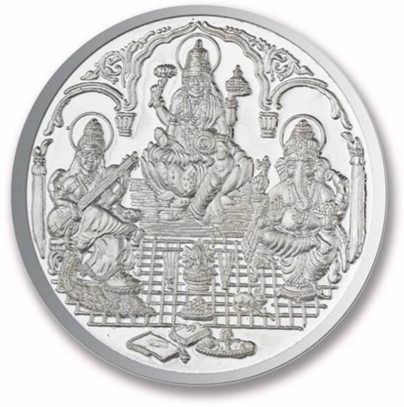 P N Gadgil Jewellers Trimurti Shree S 999 20 G Silver Coin