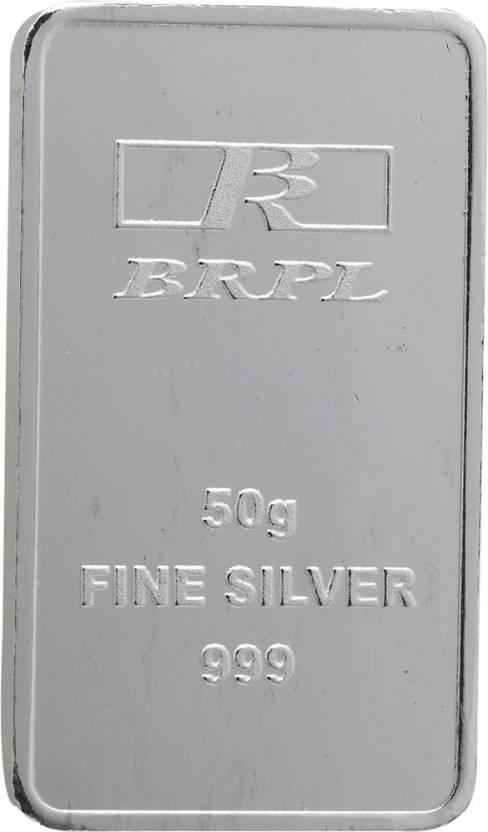 Bangalore Refinery Brpl 50 Gram Silver Bar S 999 G