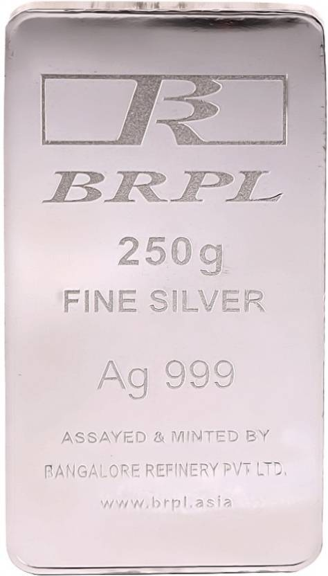 Bangalore Refinery S 999 250 G Silver Bar Price In India Buy