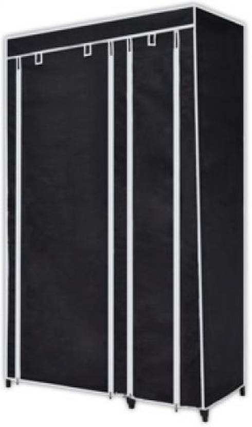 Anything   Everything Carbon Steel Collapsible Wardrobe Finish Color   BLACK