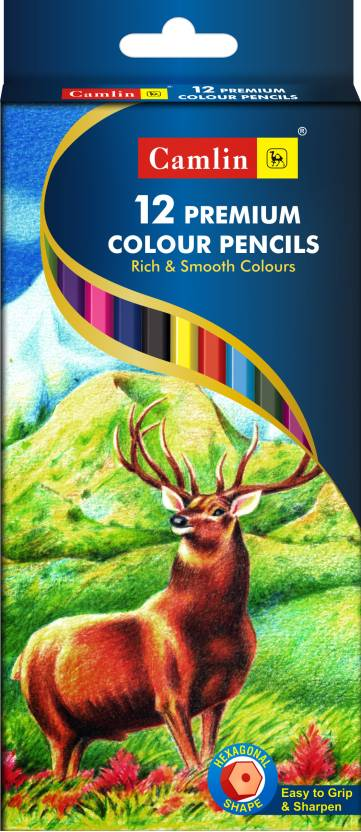 Camlin Premium Hexagonal Shaped Color Pencil