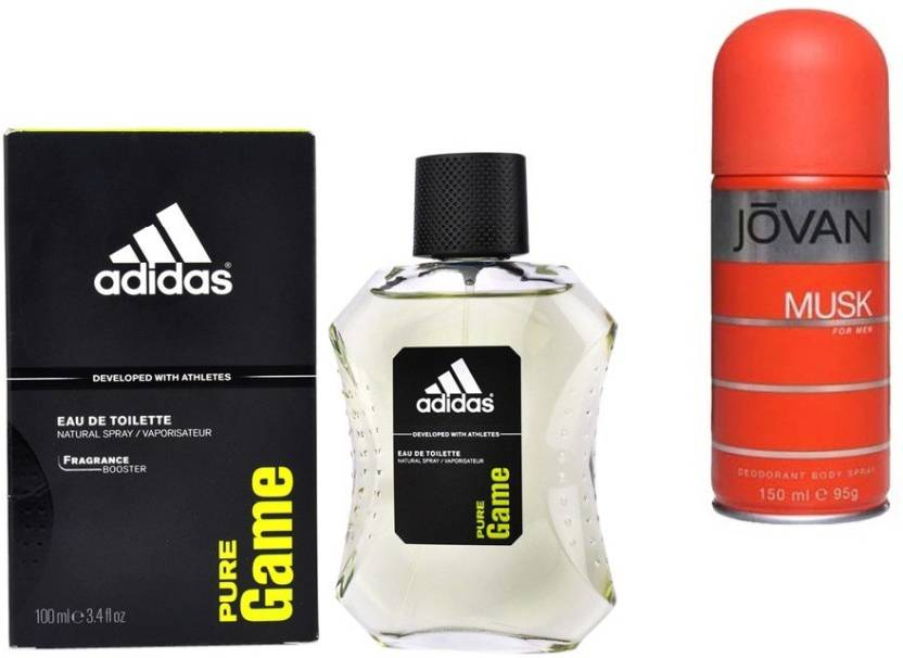 wholesale dealer 1b6bf 5a3cc Adidas Live It Combo s In EDT Pure Game   Jovan Men s The Musk Deo Combo Set  (Set of 2)