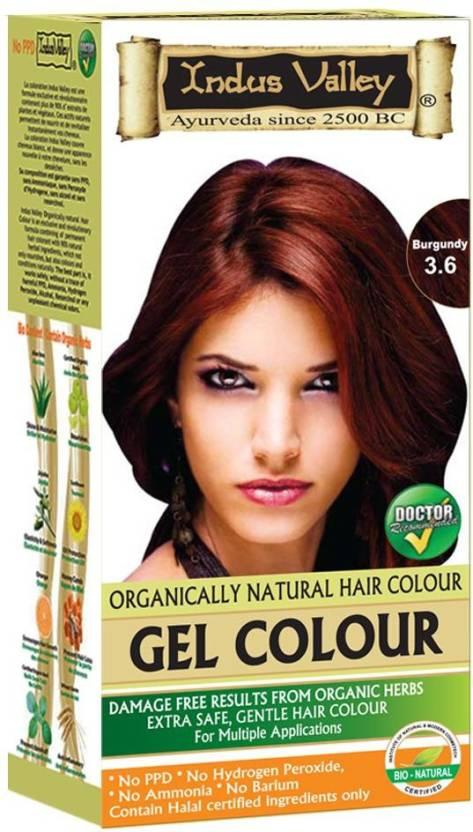 Indus Valley Halal Natural Burgundy 3 6 Hair Color