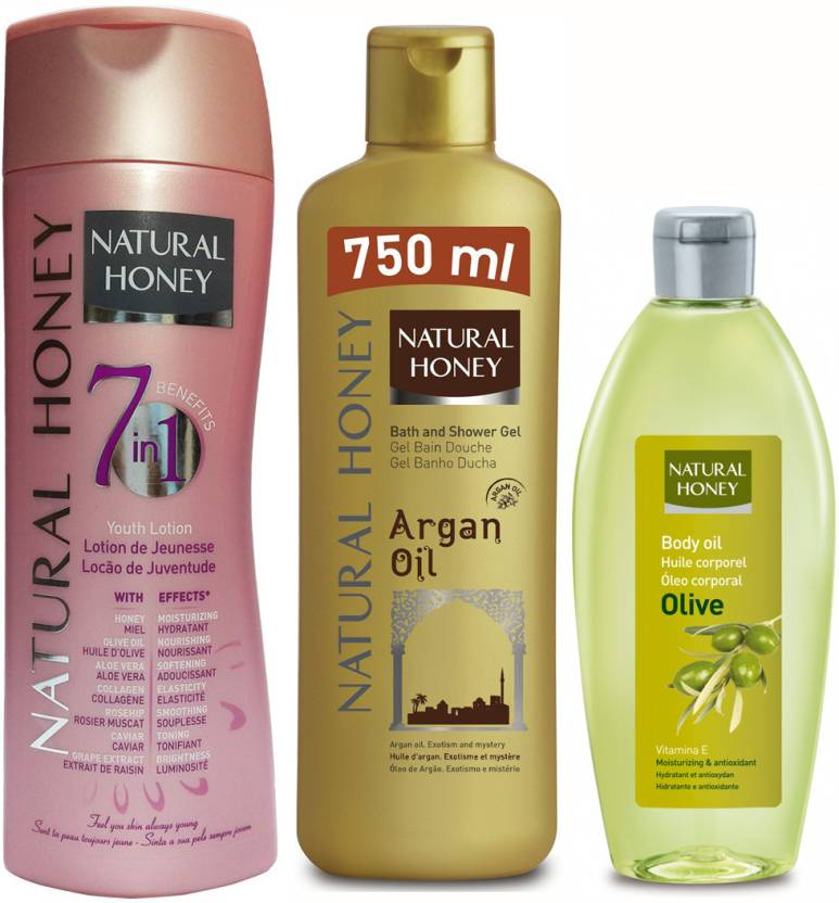 Natural Honey Body Lotion 7 in 1- Youth Lotion & Argan Shower Gel
