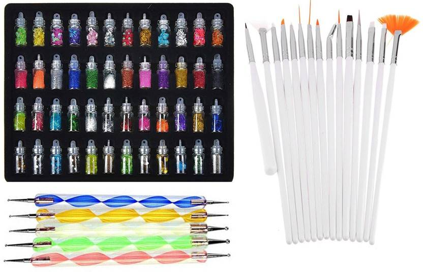 Lifestyle You Ly116a Combo Deal Of Nail Art Brush Dotting Tools And