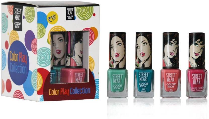 Revlon Streetwear Color Rich Color Play Collection - ( Set Of 4 Nail ...