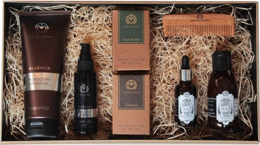 4e5abde684e The Man Company Bounty - Grooming Kit for Men | Packed in Premium Wooden  Gift Box (Set of 5)