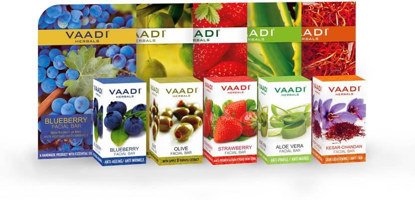 Bar Soaps Vaadi Herbals Exotic Flavors Luxurious Handmade Herbals Soaps 75gm pack Of 6