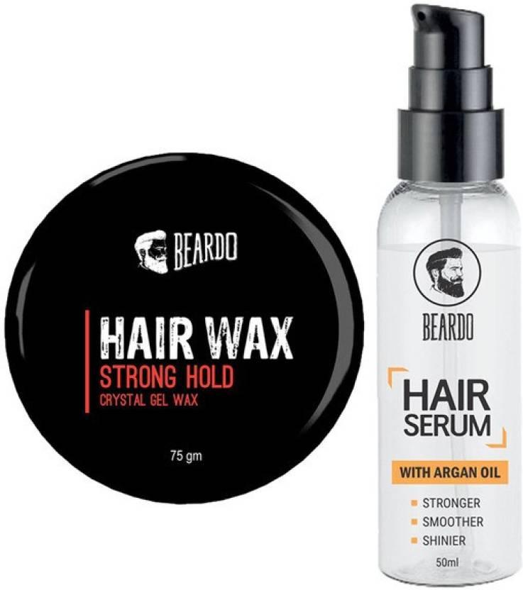 Beardo Hair Wax Strong Hold 75gm And Serum 50ml Set Of 2