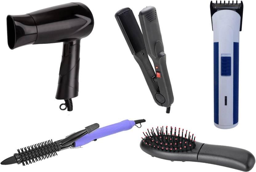 Liance Bazar Combo Of Straightener Dryer Curler Trimmer Hair Brush Mager