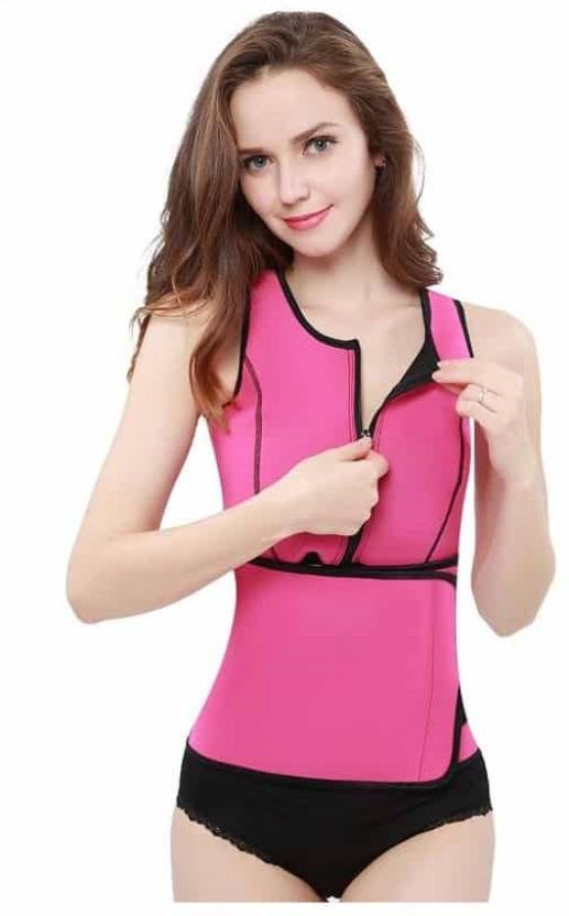 c89cc5c199787 Comfort Layer ™ Slimming Neoprene Hot Sweat Shirt Body Shapers for Weight  Loss Women Compression (Pink Sleeveless)