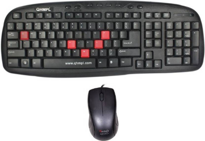 QHMPL Wired Keyboard   Mouse Combo Set