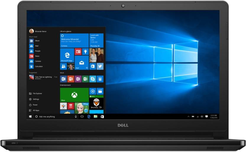Dell Inspiron APU Quad Core A10 6th Gen - (8 GB/1 TB HDD/Windows 10 Home/2 GB Graphics) Z566120HIN9 5555 Notebook