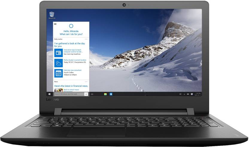 Lenovo Core i3 6th Gen - (4 GB/1 TB HDD/Windows 10 Home) Ideapad 110 Laptop  (15.6 inch, Black, 2.2 kg)