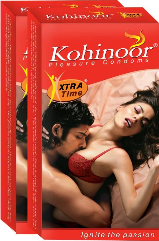 Kohinoor Xtra Time Condom  (Set of 2, 10S)