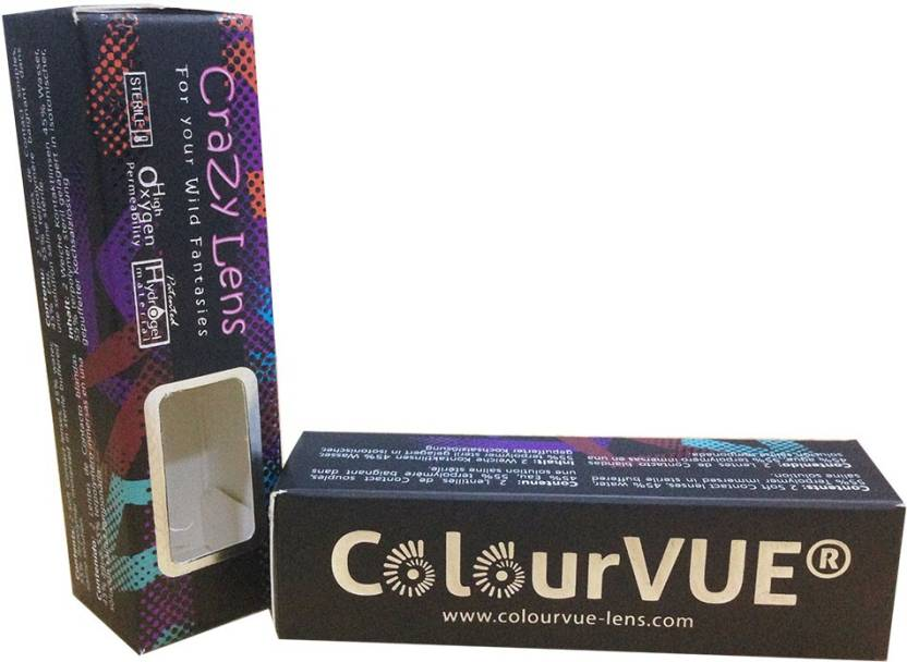 b213b28f2 ColourVUE UV GLOW Yearly Contact Lens (0, Glow White Leopard, Pack of 2)