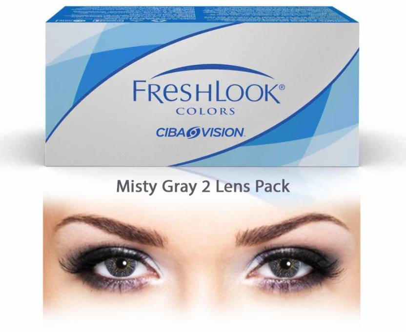 cdd4f7912cca Ciba Vision Freshlook Colors Misty Gray By Visions India Monthly Contact  Lens (-7.00
