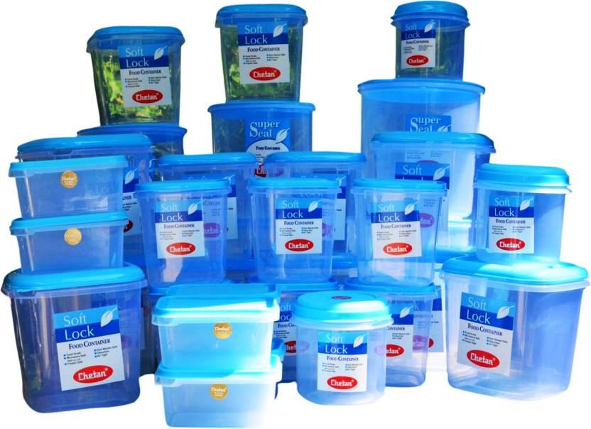 Chetan 33 Pc Jumbo Plastic Kitchen Storage Container Set 5000 Ml