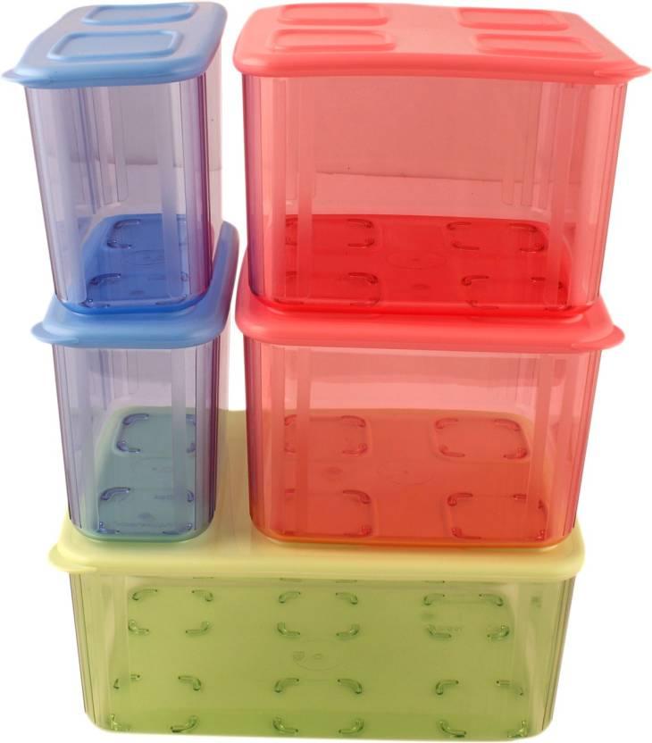 Tupperware Clara Box Set 7130 Ml Plastic Grocery Container Price