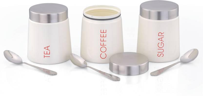 Klic Vimal Tea Coffee Sugar Container 600 Ml Steel Food Storage