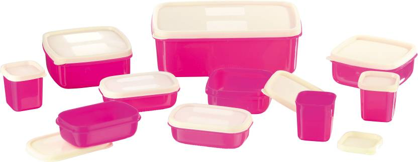 Upto 60% Off On Kitchen Containers By Flipkart | MasterCook COMBO-X-3-PINK Plastic Multi-purpose Storage Container  (Pack of 10, Pink) @ Rs.254