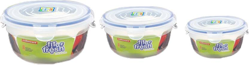 Cello Fit & Fresh Rb 3 Pcs Air Tight Container Set - 300 ml