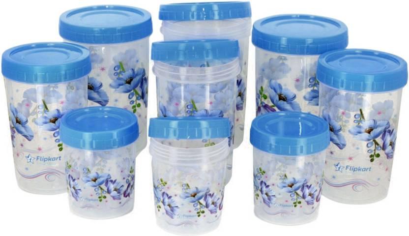 Flipkart SmartBuy 9 Piece Kitchen Storage Containers Price in India ...