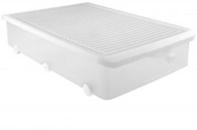 Tatay 63 L With Wheels Simple Underbed Storage Box Tansparent Made