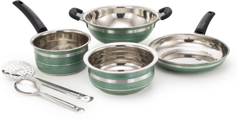 6d0df8b1929 Mahavir 6KFSHSSGR Induction Bottom Cookware Set Price in India - Buy ...