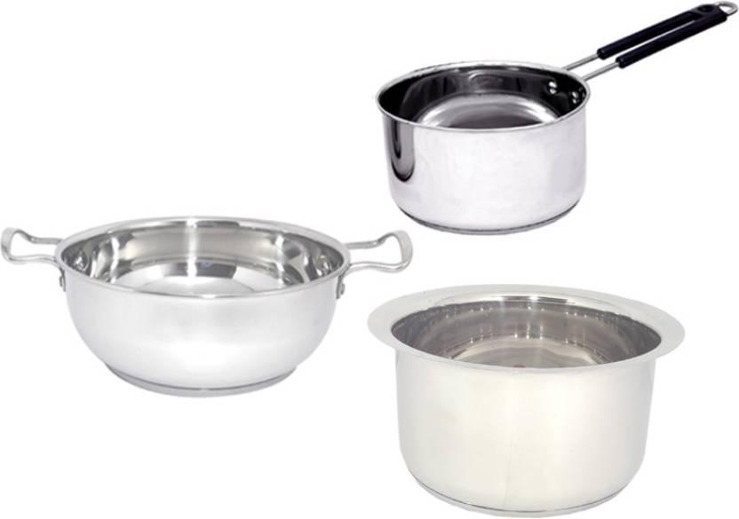 Bartan Hub Induction Bottom Cookware Set Price In India Buy Bartan