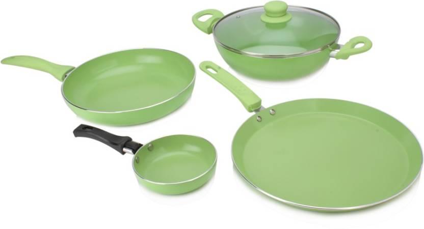 Wonderchef 4 pc. Cookware set Just Rs.1399 By Flipkart | Wonderchef Family Set with Free Fry Pan Cookware Set  (Aluminium, 4 - Piece) @ Rs.1,399