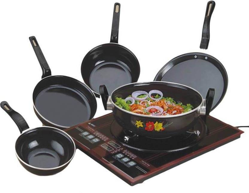 Milton induction bottom cookware set price in india buy for Kitchen set on flipkart