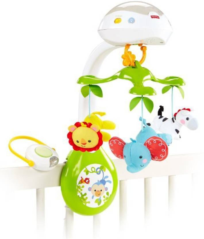 Fisher Price Deluxe Projection Mobile Rainforest Friends 3 In 1