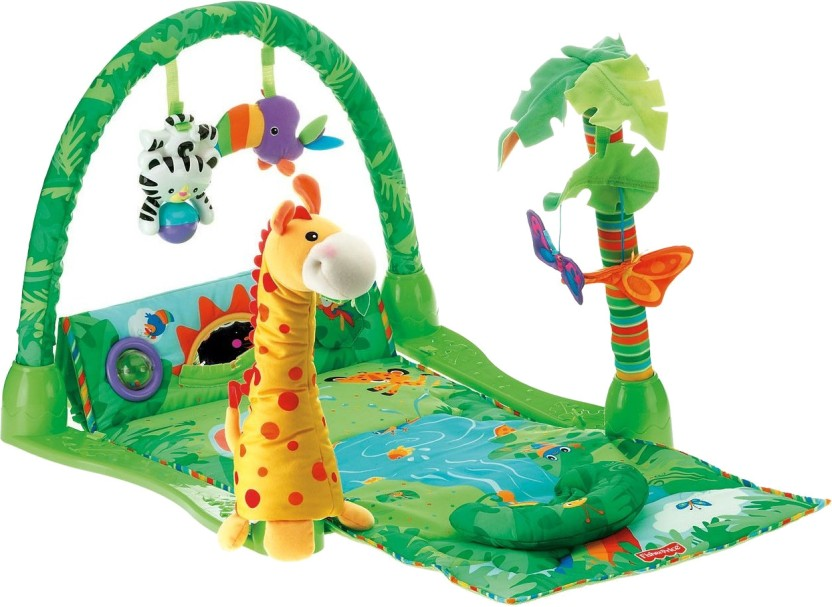 Premium Baby Toddler Play Mobile Jungle Animals Gym Mat Lights /& Music 0 Months