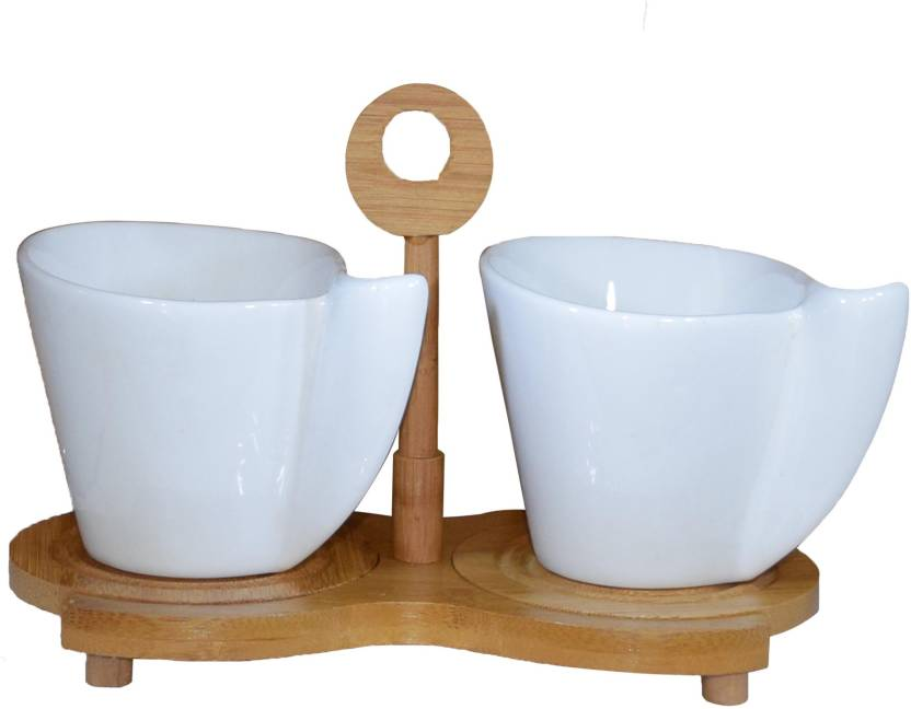 GiftTech 40 Pcs CERAMIC TEACOFFEE CUP SET WITH SAUCER ON A BAMBOO Stunning Tea Set Display Stand For Sale