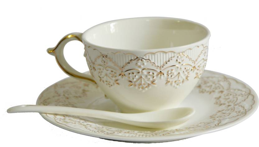 Deseo 18 Pc Cup And Saucer Set Bone China