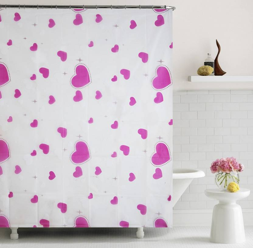 Home Candy 180 Cm 6 Ft PVC Shower Curtain Single
