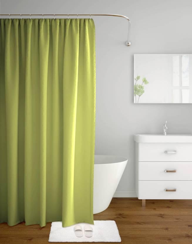 Tangerine 200 Cm 7 Ft Polyester Shower Curtain Single