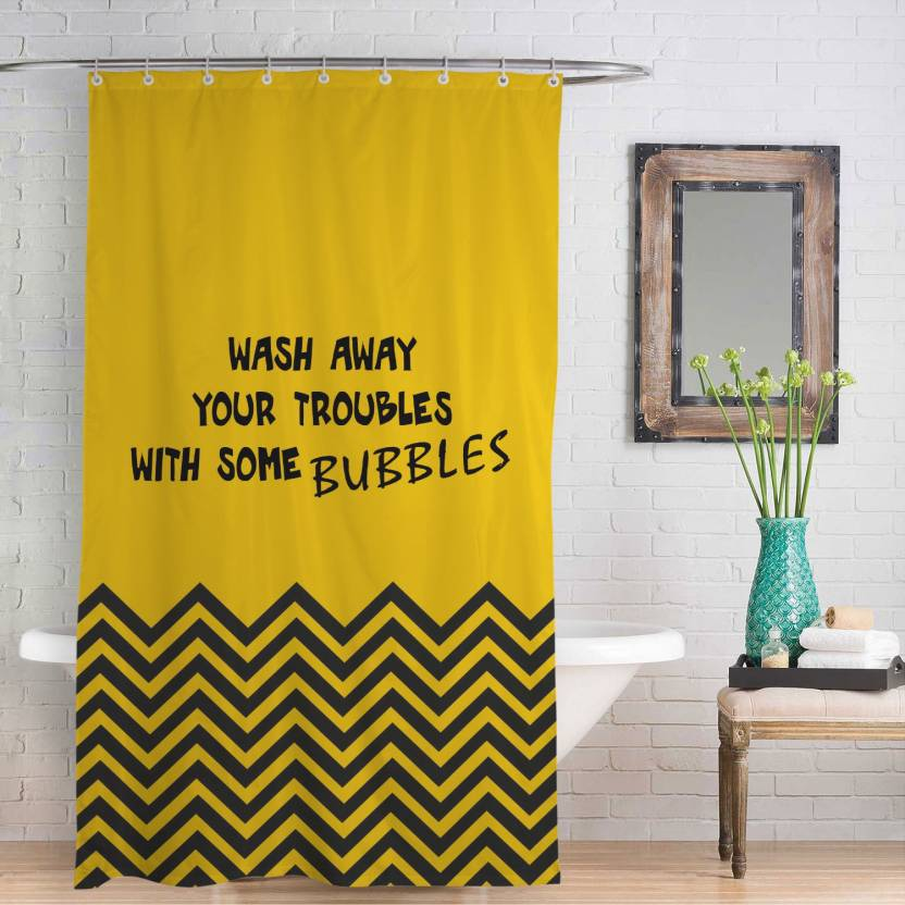 Right 230 Cm 8 Ft Polyester Shower Curtain Single
