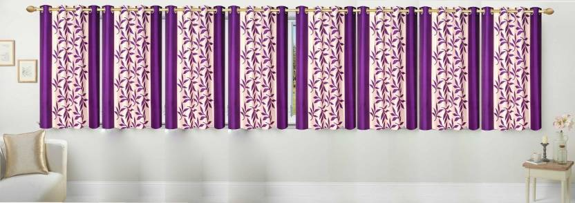 Ville Style 153 Cm 5 Ft Polyester Window Curtain Pack Of 8 Buy