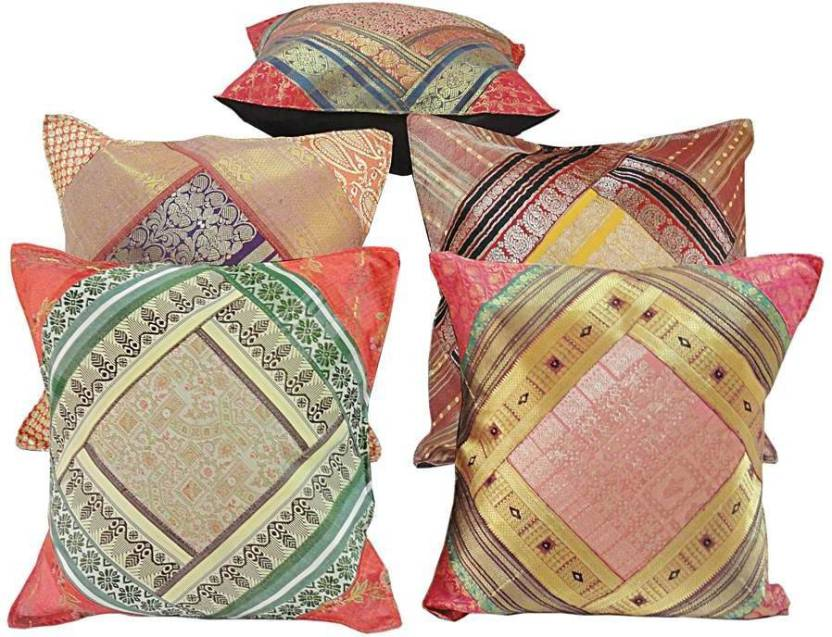 Ethnic Treat Self Design Cushions Cover