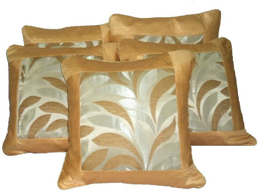 Amita Home Furnishing Floral Cushions Cover