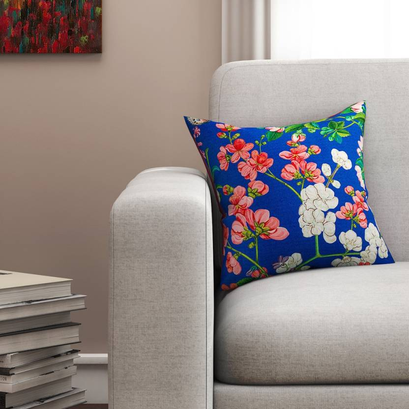 SEJ by Nisha Gupta Floral Cushions Cover