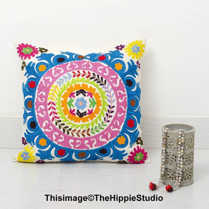 Hippie Studio Embroidered Cushions Cover