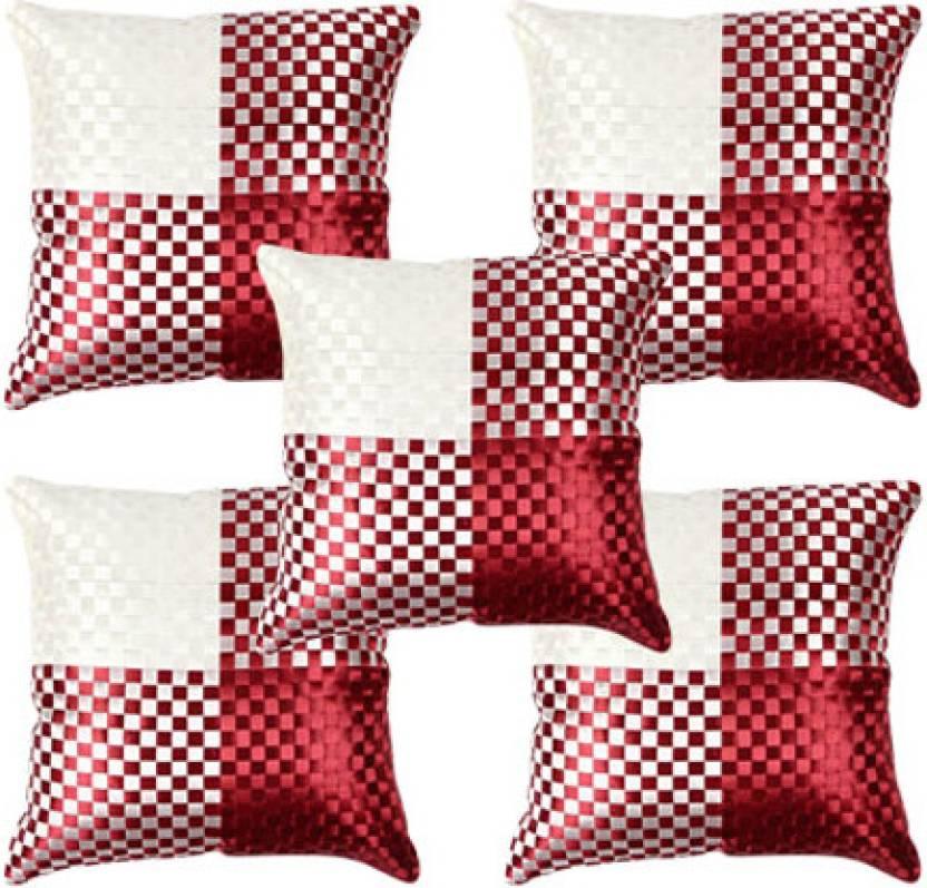Soundarya Checkered Cushions Cover