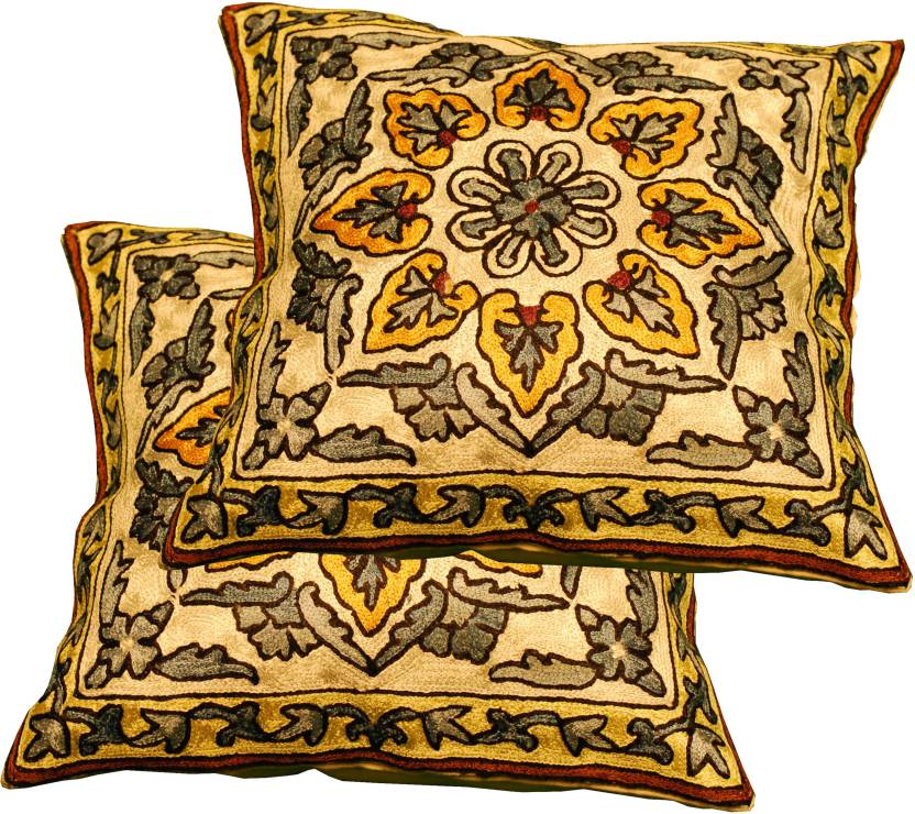 Ancient India Floral Cushions Cover