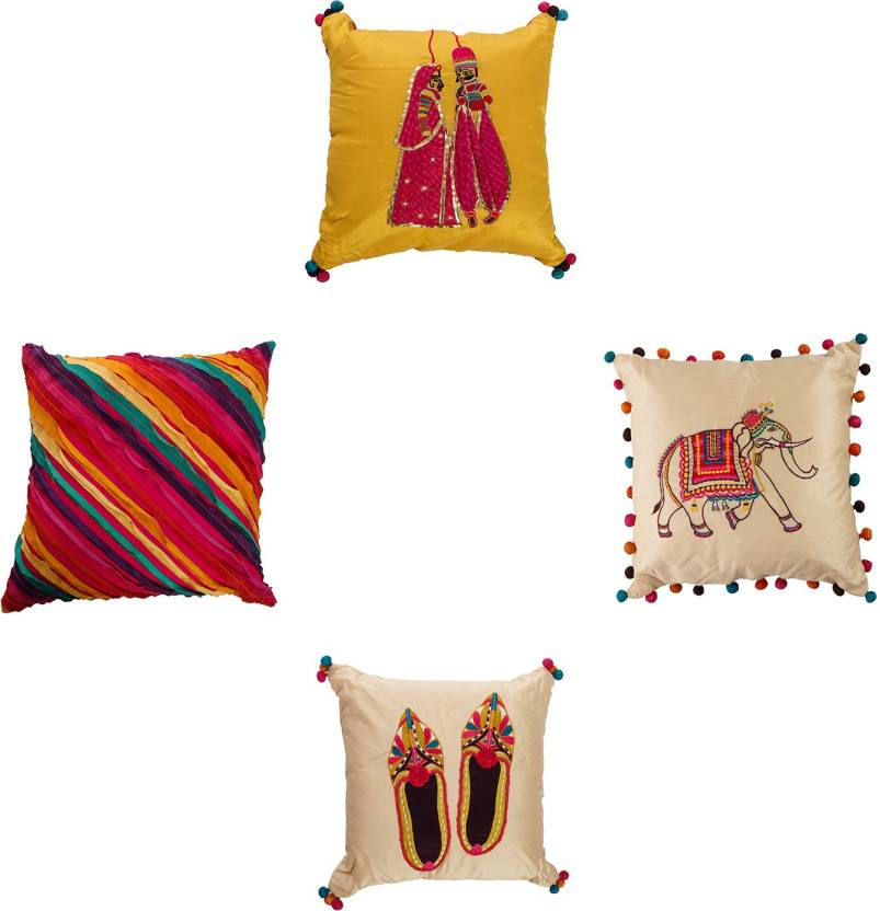 Kairan Jaipur Embroidered Cushions Cover