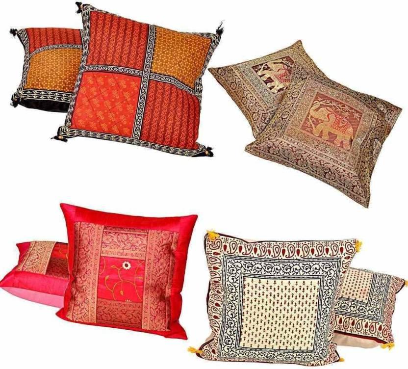 Shree Sai Floral Cushions Cover