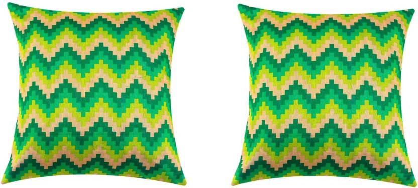SEJ by Nisha Gupta Geometric Cushions Cover
