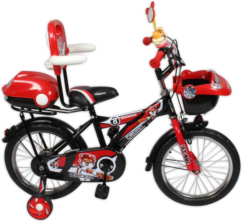 9fe067e2865 HLX-NMC KIDS BICYCLE 16 CAR-X RED BLACK 16 T Recreation Cycle (Single Speed